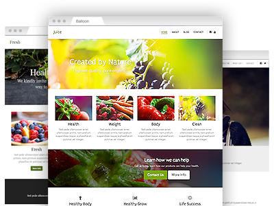 A selection of easy–to–re–design themes